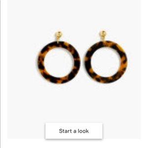 Fun Circle Earrings in Tortoise